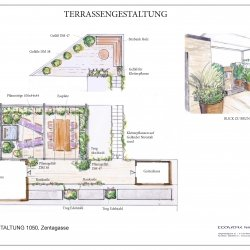 Gartengestaltung Flachdach