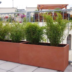 Lieferung von Pflanztrögen nach Maß inkl. Bewässerung und Beleuchtung