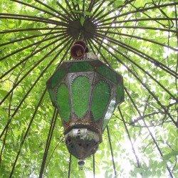 Gartenpavilion mit indischen Gestaltungselementen