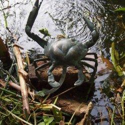 Auflockerung der Teichlandschaft durch Kunst am Wasser
