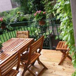 Lärchenholzboden als Terrassenbelag