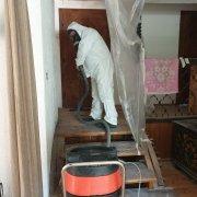 Reinigung des abgesicherten Arbeitsbereiches