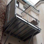 Balkon und Terrassen nachträglich errichtet
