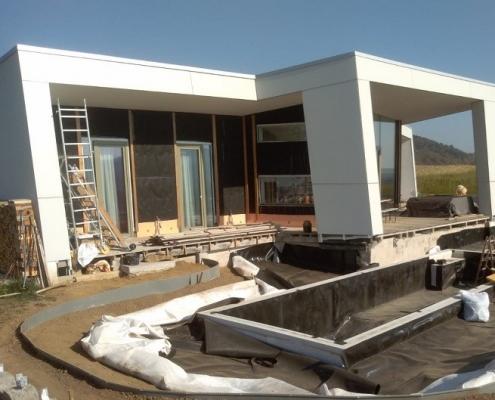 Fertigstellungsphase Holzmassivhaus