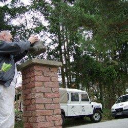 Klinkersäulen passend zum Country Garden