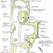 Wege und Plätze sinnvoll eingebettet in Beete und Hecken