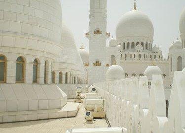 Schall und Stromschienen zur Schadvogelabwehr Sheikh Zayed Grand Mosque Abu Dhabi