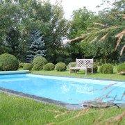 Kugelbuchse, Rollrasen und Poolgestaltung