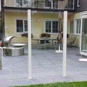 Terrassengestaltung mit Windschutz
