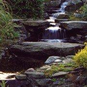 Wasserfall und Gartenteich