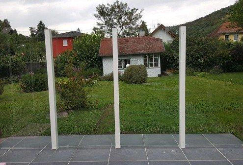 Rahmenloser Windschutz - VSG Glas