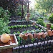 Bauerngärten als Terrassenanlage